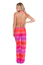 SUNSET ANGEL - Crochet Illusion Halter Top & Beach Pant • Multicolor