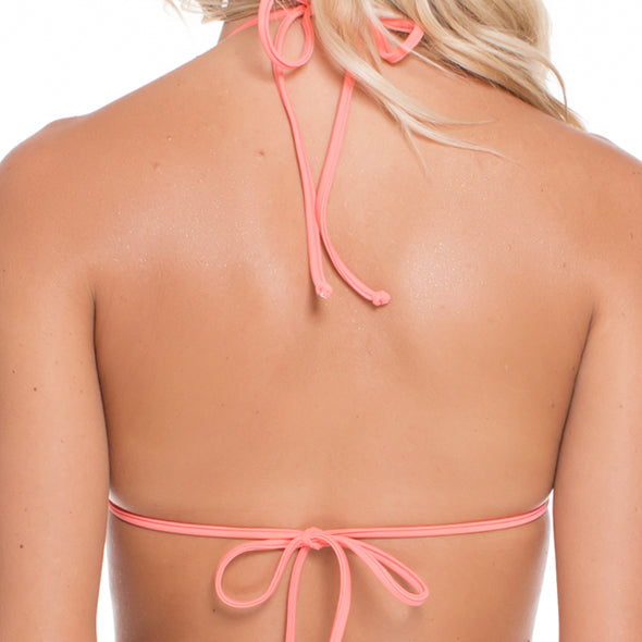 SUNSET ANGEL - Molded Push Up Bandeau Halter Top