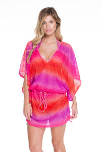 SUNSET ANGEL - Cabana V Neck Dress • Multicolor