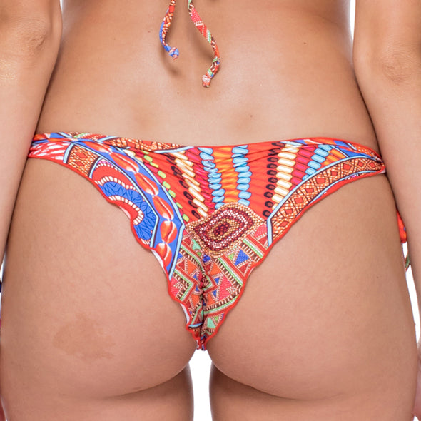 MANDINGA - Wavey Ruched Back Brazilian Tie Side Bottom