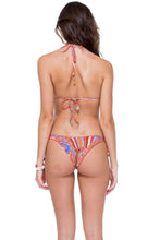MANDINGA - Triangle Top & Wavey Ruched Back Brazilian Tie Side Bottom • Multicolor