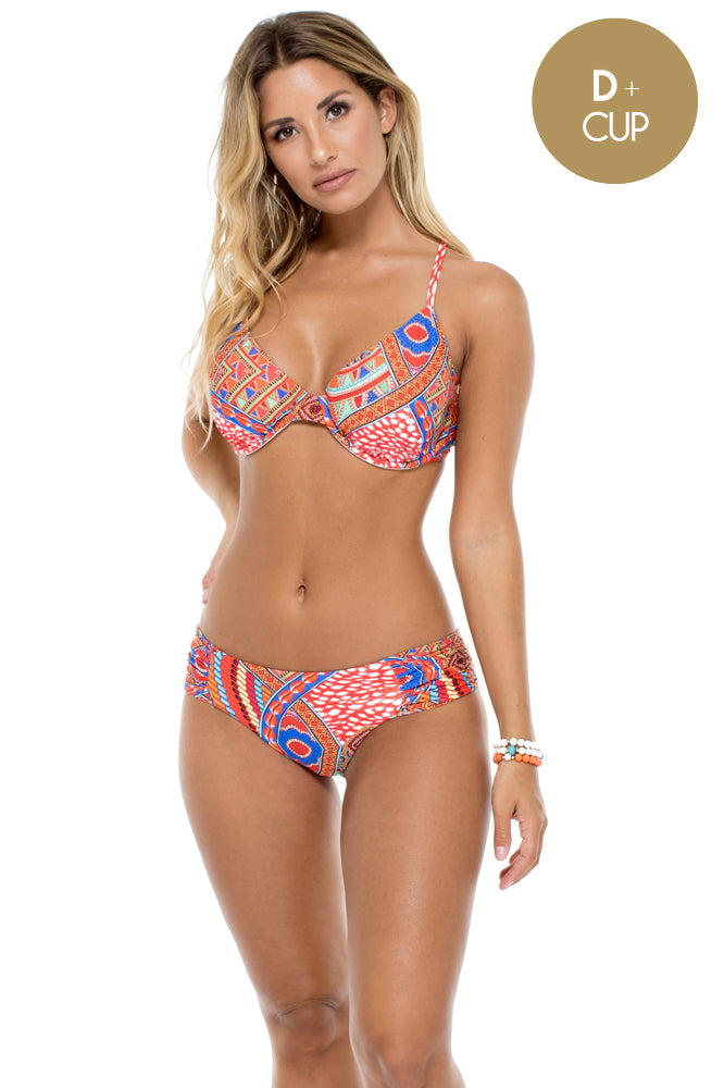 MANDINGA - Underwire Adjustable Top & Scrunch Panty Full Bottom • Multicolor (874573463596)