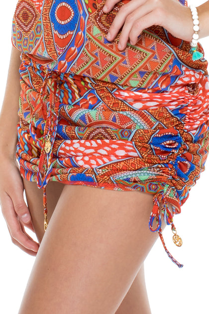MANDINGA - T Back Mini Dress • Multicolor