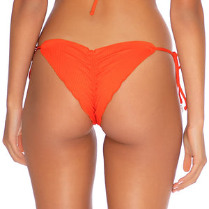 ORILLAS DEL MAR - Wavey Ruched Back Tie Side Bottom-EJC
