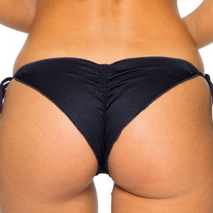 COSTA DEL SOL - Wavey Ruched Back Brazilian Tie Side Bottom