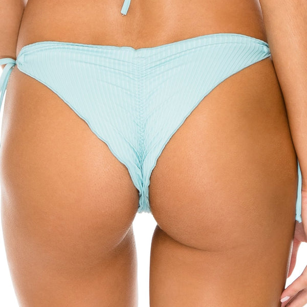 ORILLAS DEL MAR - Wavey Ruched Back Brazilian Tie Side Bottom
