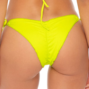 ORILLAS DEL MAR SUMMER - Wavey Ruched Back Brazilian Tie Side Bottom
