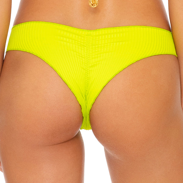 ORILLAS DEL MAR SUMMER - Wavey Ruched Back Brazilian Bottom
