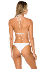 COSTA DEL SOL - Triangle Top & Wavey Ruched Back Brazilian Tie Side Bottom • White