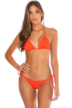 ORILLAS DEL MAR - Triangle Top & Wavey Ruched Back Tie Side Bottom • Fuego