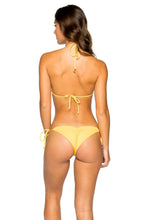 COSTA DEL SOL - Triangle Top & Wavey Ruched Back Brazilian Tie Side Bottom • Banana