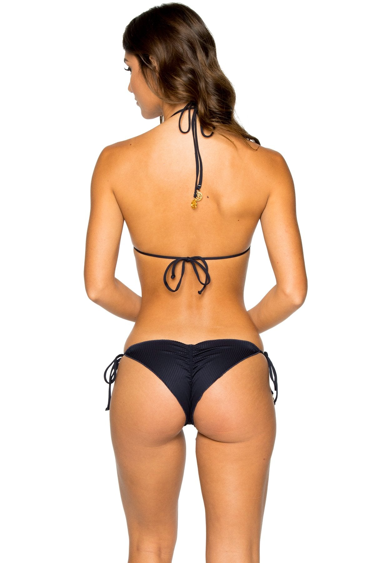 COSTA DEL SOL - Triangle Top & Wavey Ruched Back Brazilian Tie Side Bottom • Mar De Gibraltar