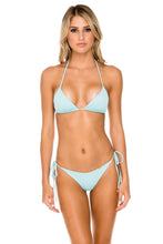ORILLAS DEL MAR - Triangle Top & Wavey Ruched Back Brazilian Tie Side Bottom • Acuario