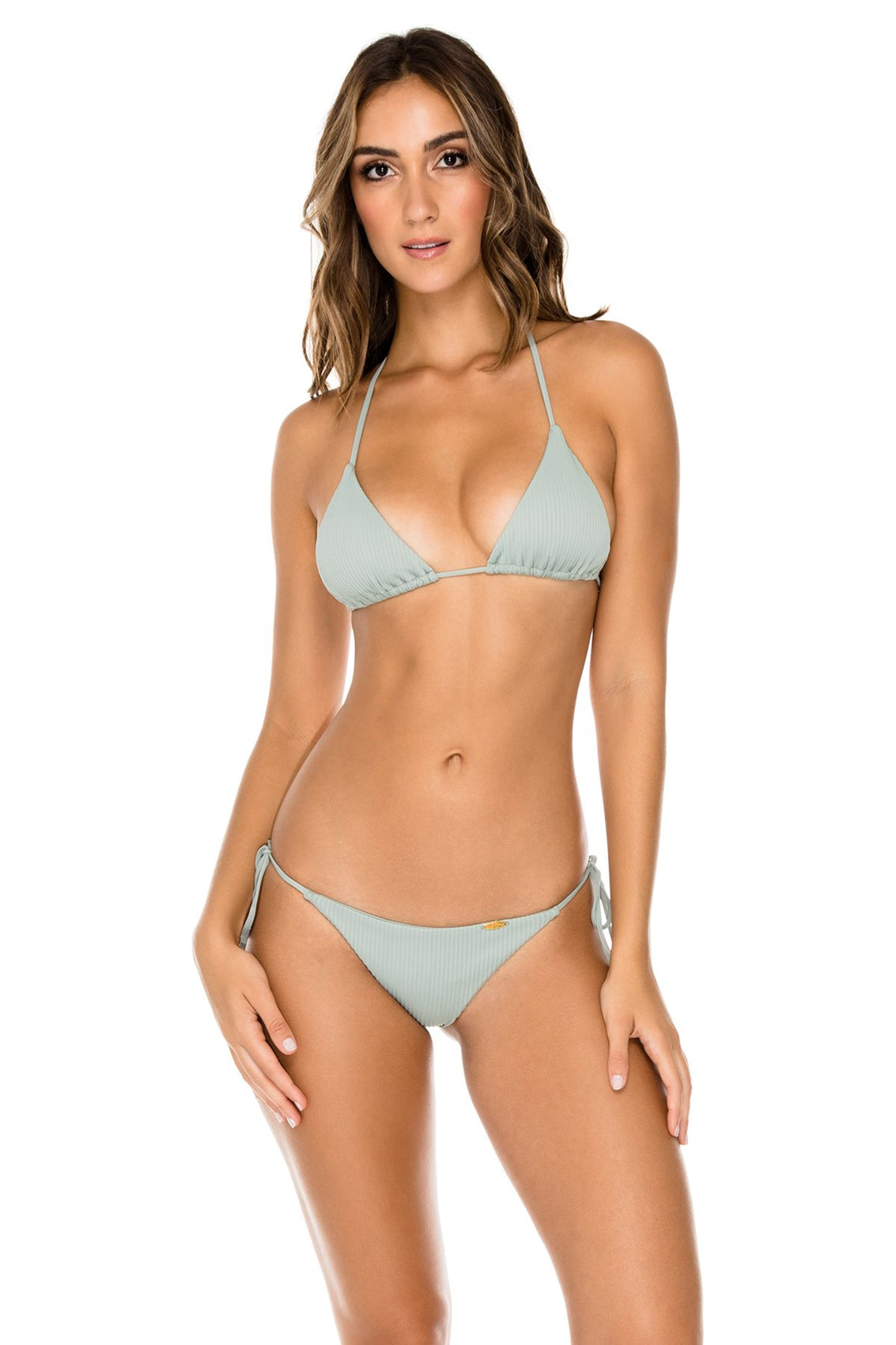 ORILLAS DEL MAR - Triangle Top & Wavey Ruched Back Brazilian Tie Side Bottom • Jardines