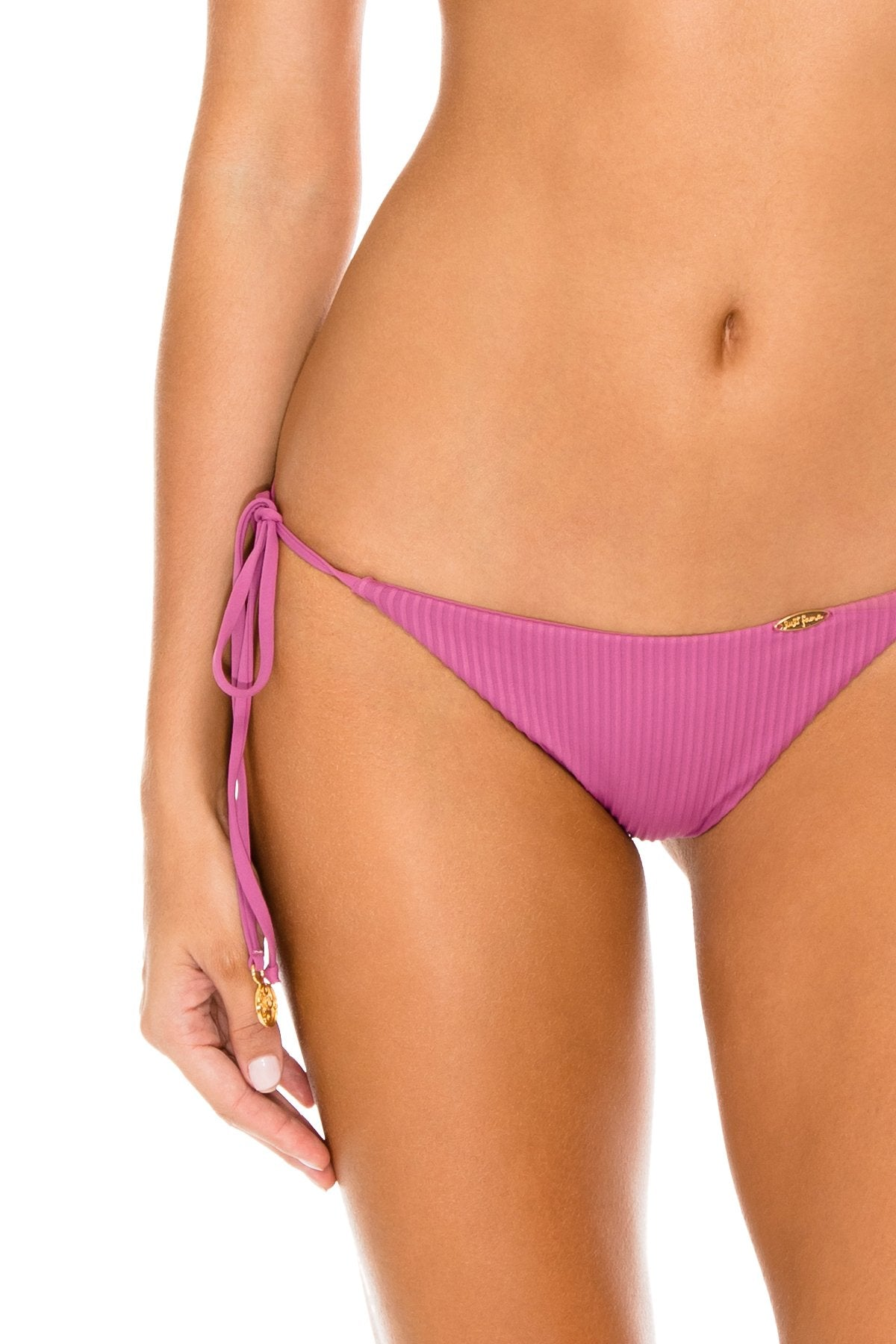 ORILLAS DEL MAR - Triangle Top & Wavey Ruched Back Brazilian Tie Side Bottom • Frambuesa