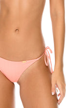 ORILLAS DEL MAR - Triangle Top & Wavey Ruched Back Brazilian Tie Side Bottom • Puesta Del Sol