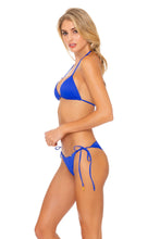 ORILLAS DEL MAR - Triangle Top & Wavey Ruched Back Tie Side Bottom • Blue My Mind