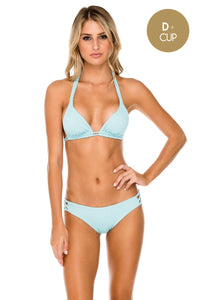 ORILLAS DEL MAR - Triangle Halter Top & Full Bottom • Acuario