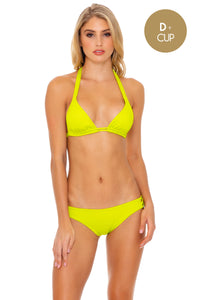 ORILLAS DEL MAR - Triangle Halter Top & Full Bottom • Glowstick