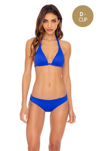 ORILLAS DEL MAR - Triangle Halter Top & Full Bottom • Blue My Mind