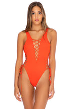 ORILLAS DEL MAR - Open Side One Piece Bodysuit • Fuego