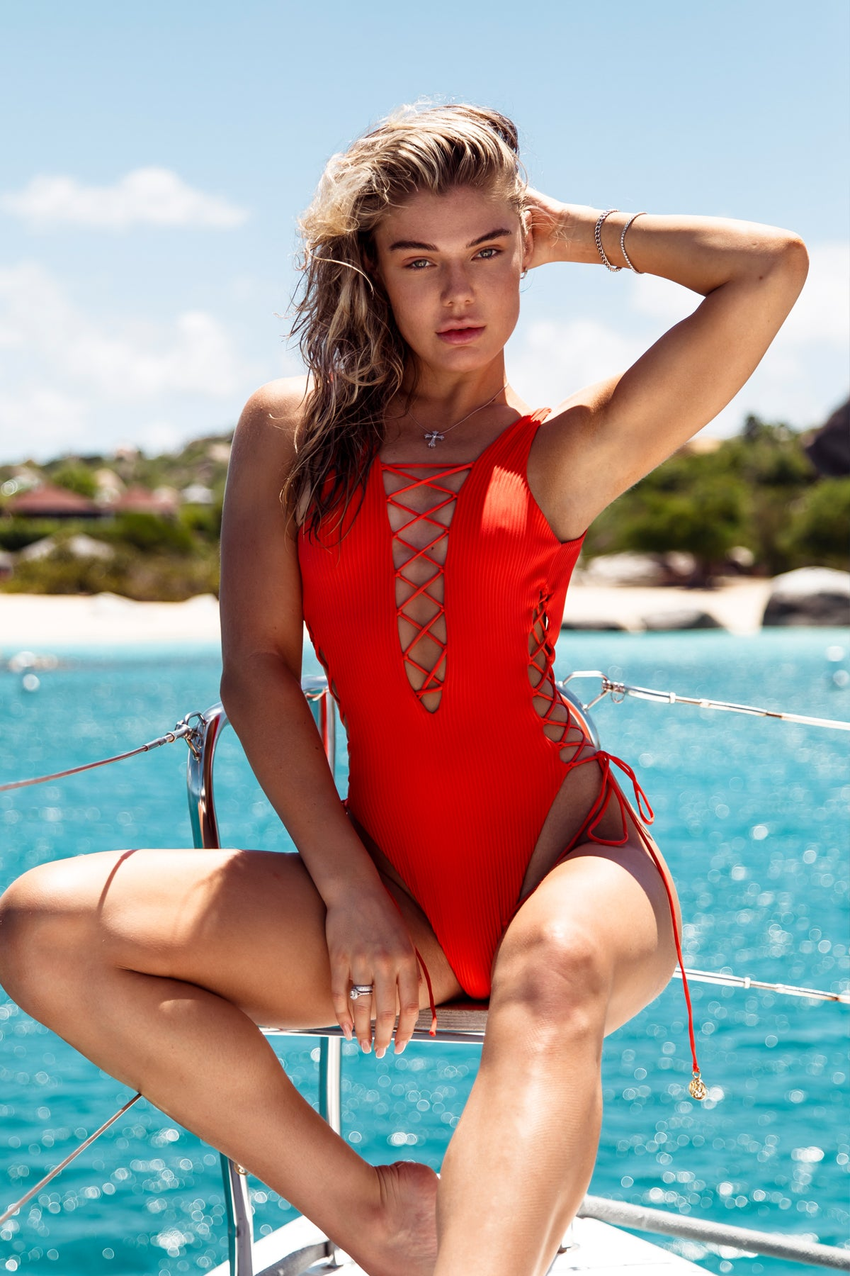 ORILLAS DEL MAR - Open Side One Piece Bodysuit • Fuego BVI