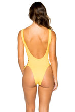 COSTA DEL SOL - Open Side One Piece Bodysuit • Banana