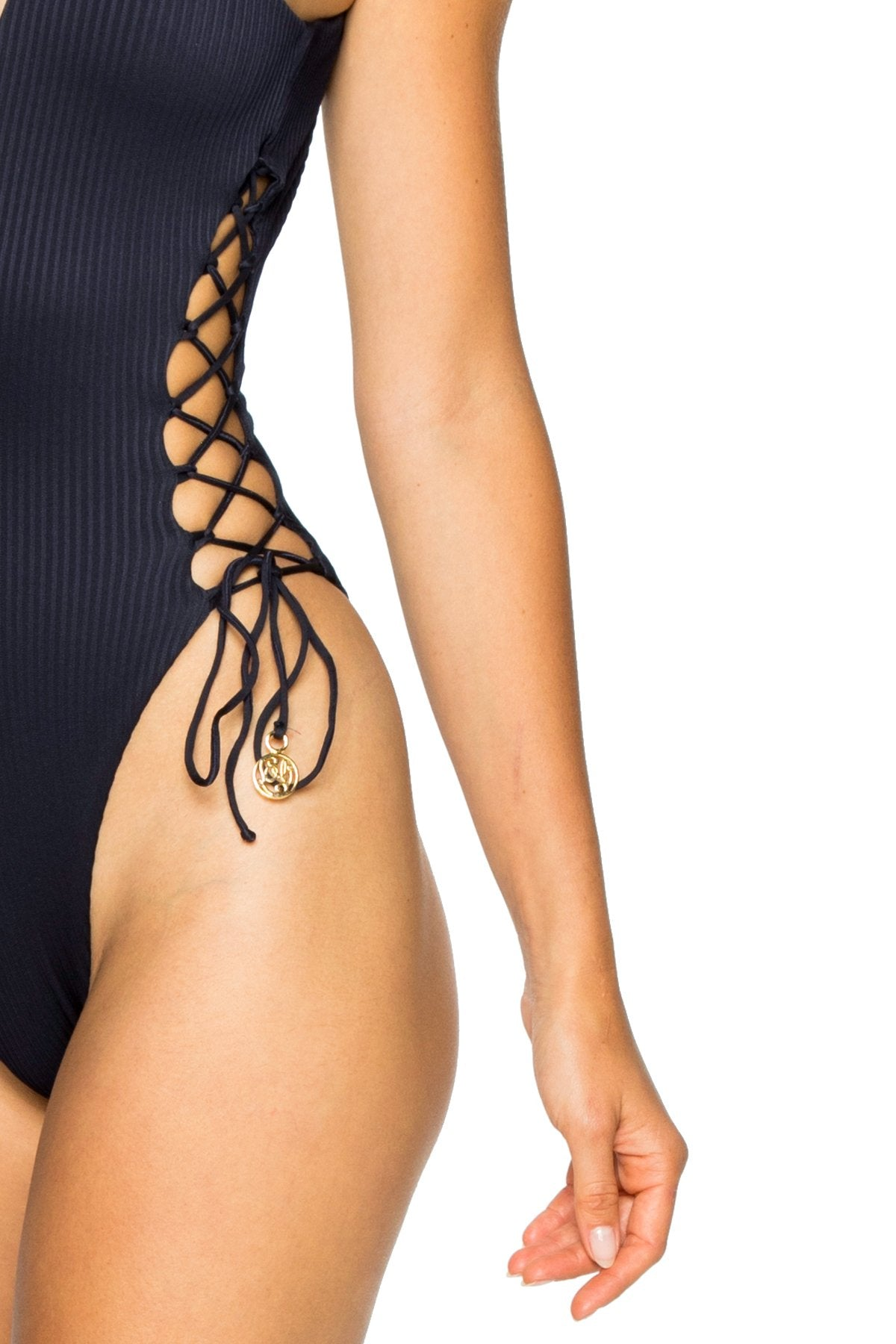 COSTA DEL SOL - Open Side One Piece Bodysuit • Mar De Gibraltar