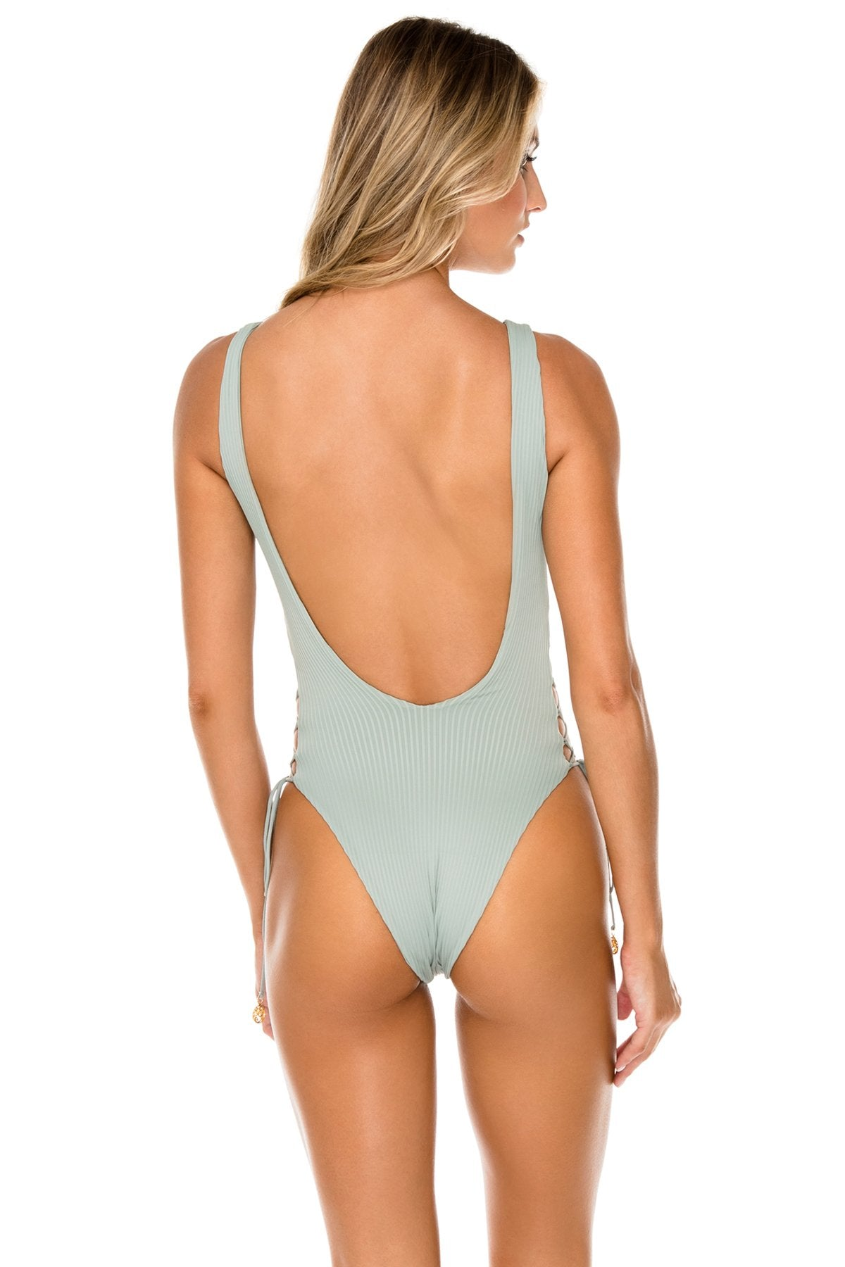 ORILLAS DEL MAR - Open Side One Piece Bodysuit • Jardines