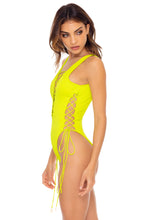 ORILLAS DEL MAR - Open Side One Piece Bodysuit • Glowstick