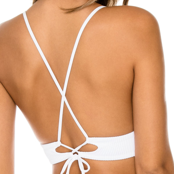 COSTA DEL SOL - Halter Cross Back Bustier Top