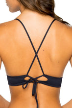 COSTA DEL SOL - Cross Back Bustier Top & Strappy Brazilian Ruched Back Bottom • Mar De Gibraltar