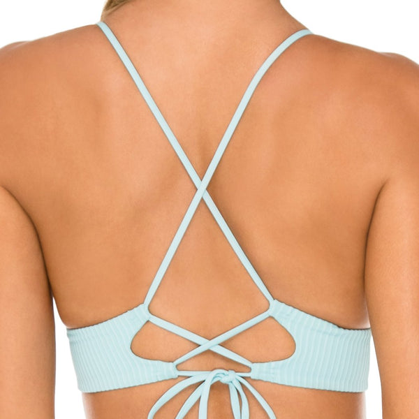 ORILLAS DEL MAR - Halter Cross Back Bustier Top