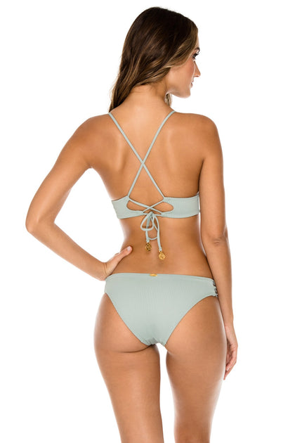 ORILLAS DEL MAR - Cross Back Bustier Top & Full Bottom • Jardines
