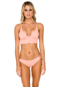 ORILLAS DEL MAR - Cross Back Bustier Top & Full Bottom • Puesta Del Sol