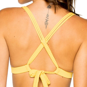 COSTA DEL SOL - Molded Push Up Bandeau Halter Top