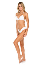 COSTA DEL SOL - Halter Top & Moderate Bottom • White