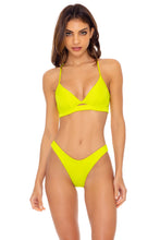 ORILLAS DEL MAR - Underwire Top & High Leg  Bottom • Glowstick
