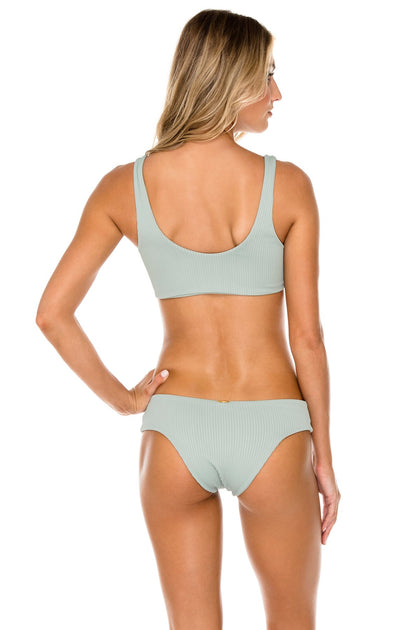 ORILLAS DEL MAR - Lace Up Bralette & Moderate Bottom • Jardines