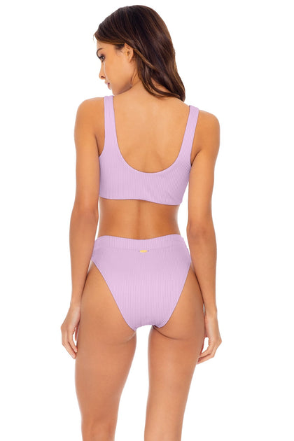 ORILLAS DEL MAR - Laceup Bralette & High Leg Banded Waist Bottom • Unicorn