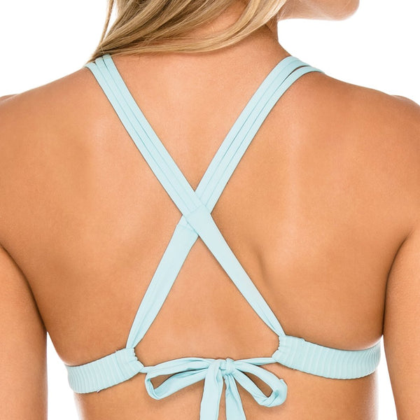 ORILLAS DEL MAR - Molded Push Up Bandeau Halter Top