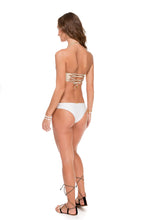 WARRIOR SPIRIT - Cut Out Underwire Top & Split Band Skimpy Bottom • White/ Gold