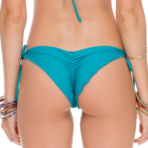 COSITA BUENA - Wavey Ruched Back Brazilian Tie Side Bottom