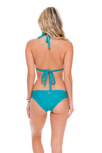 COSITA BUENA - Triangle Halter Top & Moderate Split Band Bottom • Exuma