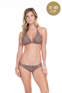 COSITA BUENA - Triangle Halter Top & Full Bottom • Sandy Toes