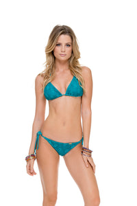 COSITA BUENA - Triangle Top & Wavey Ruched Back Brazilian Tie Side Bottom • Exuma