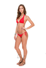 COSITA BUENA - Halter Top & Wavey Ruched Back Brazilian Tie Side Bottom • Girl On Fire