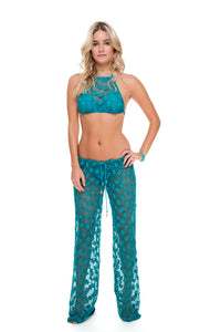 COSITA BUENA - Crochet Illusion Halter Top & Beach Pant • Exuma