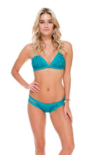 COSITA BUENA - Adjustable Back Halter Top & Moderate Split Band Bottom • Exuma
