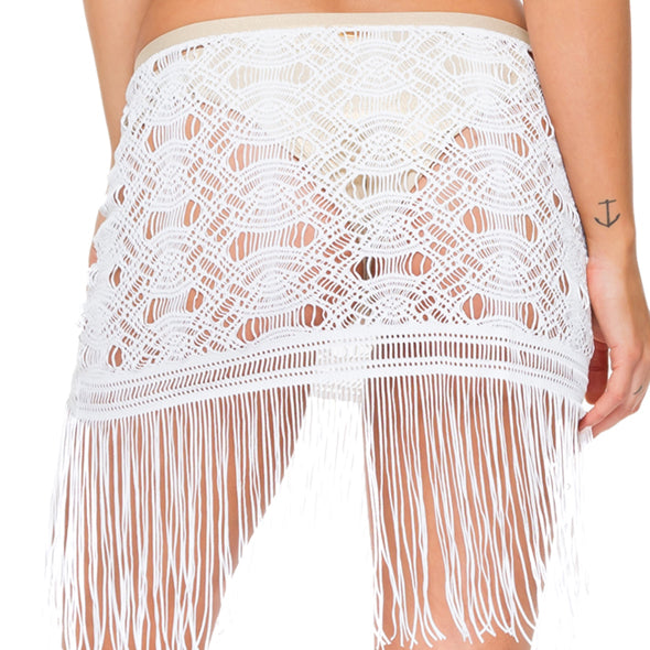 MUCHACHITA LINDA - Fringe Sheer Skirt